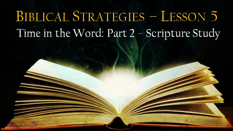 Lesson 5: 12th Man Training – Time in the Word Part 2 – Scripture Study